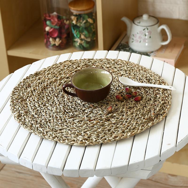 Household Anti scalding Mat Anti skid Tea Cushion Round Handmade Table Cushion Bowl and Pot Cushion in Mats Pads from Home Garden