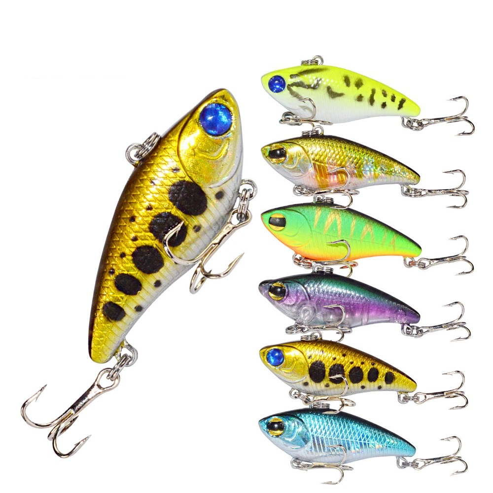 Fish Hook Lure Miny Artificial Hard Bait 3.3g 39mm 6 Colors For Ocean ,Lake , River High Quality
