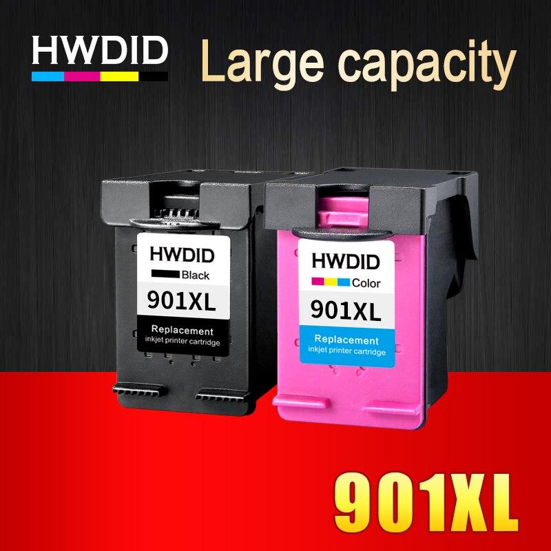 HWDID 901 Cartouche D'encre rechargée Remplacement pour HP 901 XL 901XL pour HP Officejet 4500 J4500 J4540 J4550 J4580 J4640 J4680c