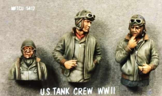 1/35 Scale WW2 US tank Soldier 3 People WWII Miniatures Unpainted Resin Model Kit Figure Free Shipping