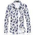 2016 floral mens shirt M-5XL 6XL 7XL shirts men C6170 camisas social masculina camisas hombre vestir