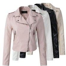 motorcycle pu leather jacket women winter and autumn  coat 4 color zipper  jacket  2017 coat hot