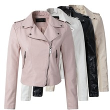 Jacket Women Coat Outerwear Motorcycle Zipper Autumn Winter New-Fashion Brand HOT 4-Color