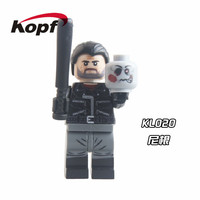 Single Sale Super Heroes The Walking Dead Negan Daryl Dixon Carol Action Figures Bricks Building Blocks Children Gift Toys KL020