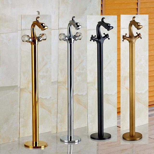 Aliexpress.com : Buy Vanity Dragon Style Ceramic Valve Bathroom ...