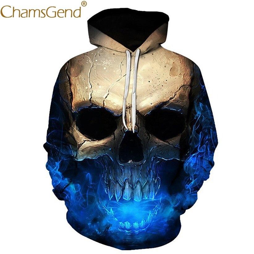 Chamsgend Hoodies Women Men 3D Sweatshirt Scary Game Skull Print Autumn Winter Pullover Sweatshirts Hip Hop Blouse Meletom 80109