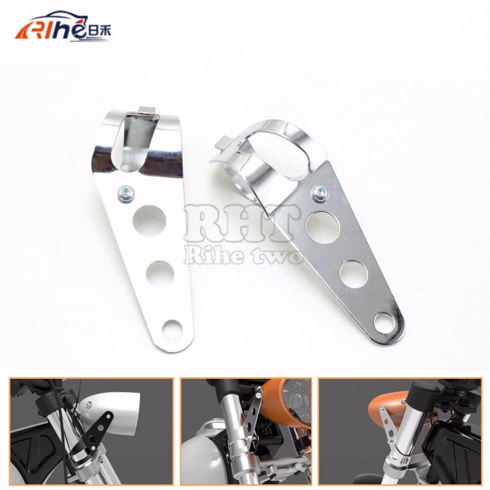 Universal de la motocicleta accesorios 35mm-43mm montaje del faro chrome soporte