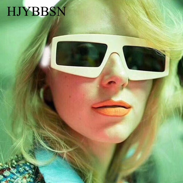 bac7a3c27d66d SENHORAS 2018 Moda Quadrados Óculos De Sol Mulheres Designer de Marca Retro  Óculos de Sol para