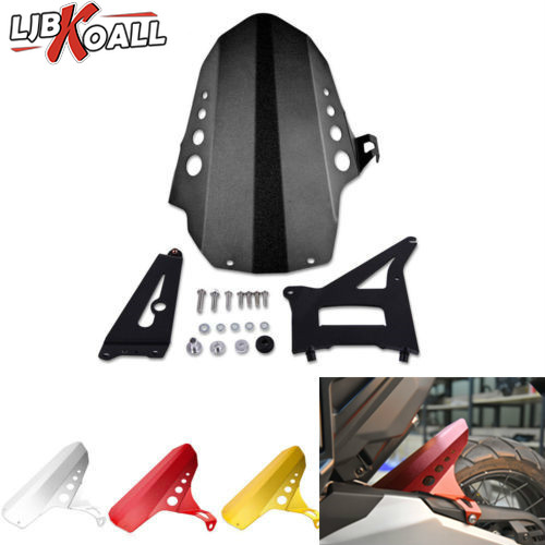 LJBKOALL Motorcycle Aluminum Rear Tire Hugger Mudguard Fender Guard Cover For Honda X-ADV XADV 750 2017 2018