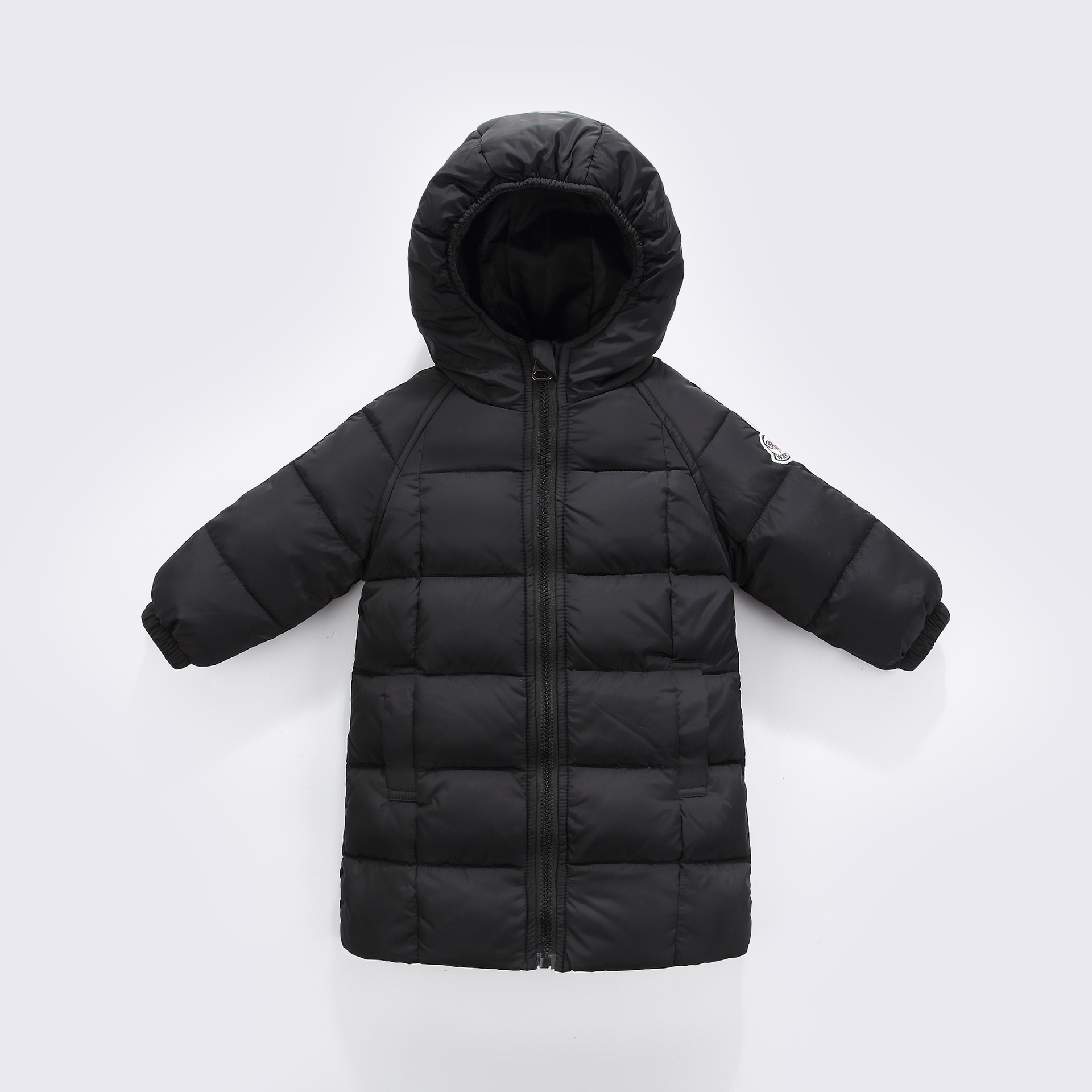 2017 Newest Boys and Girls Duck Down Long Coat Winter Warm Long Jacket Children Parkas Hodded Snow Wear Infant Outwear Overcoats 2016 winter children warm thick snow proof coat baby boys white duck down jacket vest kids casual long style outerwear parkas