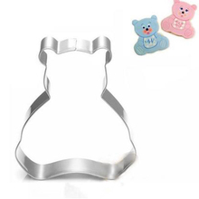 New Lovely Bear Fondant Cake Stencil Kitchen Cupcake Decoration Template Mold Cookie Coffee Baking Biscuits Stamp