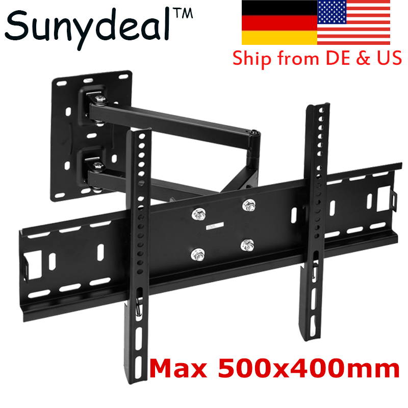 Full Motion TV Wall Mount Tilt Swivel Bracket 40 42 47 55 60 65 70 LCD LED TV Stand Monitor Holder TV beuge Mounting Bracket extra slim 2014 led bracket vesa 600 400 tv mount led tv wall bracket 55 60 for tv free shipping
