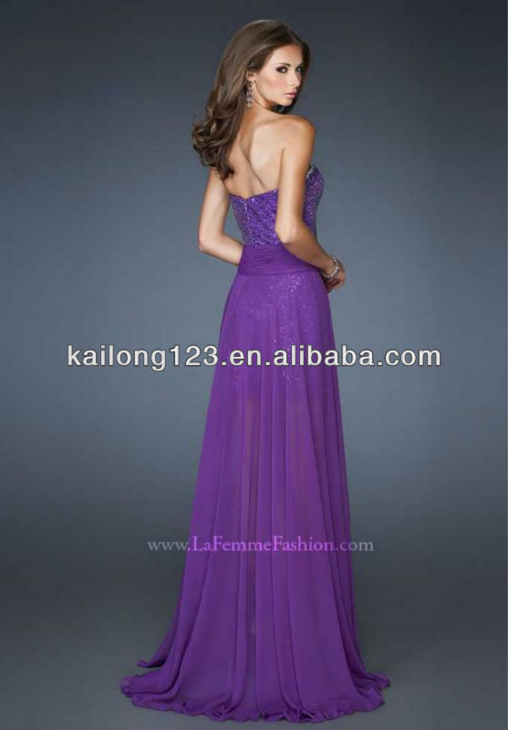 9c1fa1926b13f Glamorous Sweetheart Beaded Waist Purple Sequined Fitted Short Torso With  Flowy Chiffon Detachable Skirt Prom Dresses-in Prom Dresses from Weddings &  Events ...