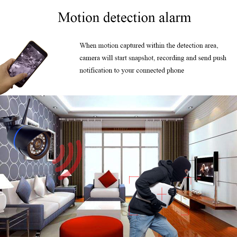 Image 4 - HD 1080P IP Camera Outdoor WiFi Home Security Camera 720P 2MP Wireless Surveillance Wi Fi SD TF Waterproof IP Onvif Camara Cam-in Surveillance Cameras from Security & Protection