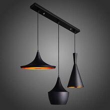 3PCS/set LED Industrial Pendant Light 220V/110V Metal Light Shade Bedroom Pendant  Lamp Hanging Lamps Modern Fixture Luminaire