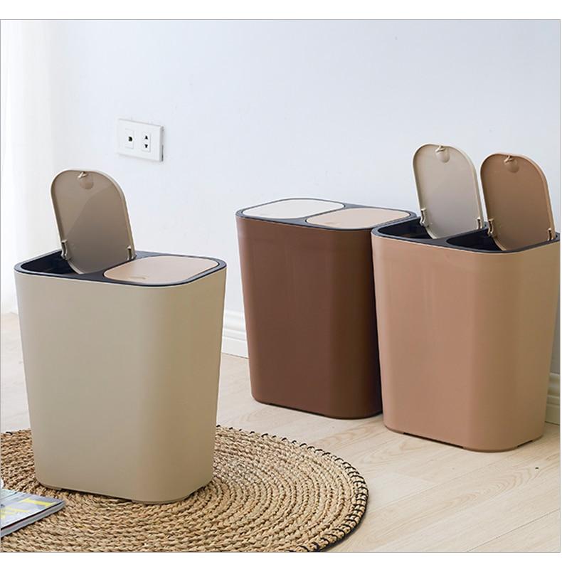Poubelles tout usage poubelle créative ménage couvert cuisine salle de bain salon chambre avec couvercle Classification papier