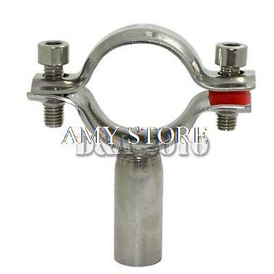 5pcs OD 25mm Sanitary Bracket Pipe Fitting Ajustable Clamp