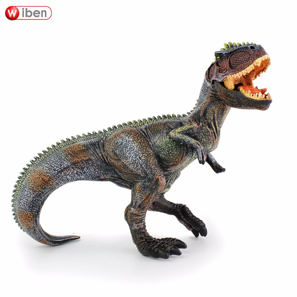 Wiben Jurassic Giganotosaurus Action & Toy Figures Animal Model Collection Vivid Hand Painted Souvenir Plastic toy Dinosaur 5pcs lots 2017 film extraordinary corps mecha five beast hand collection model toy