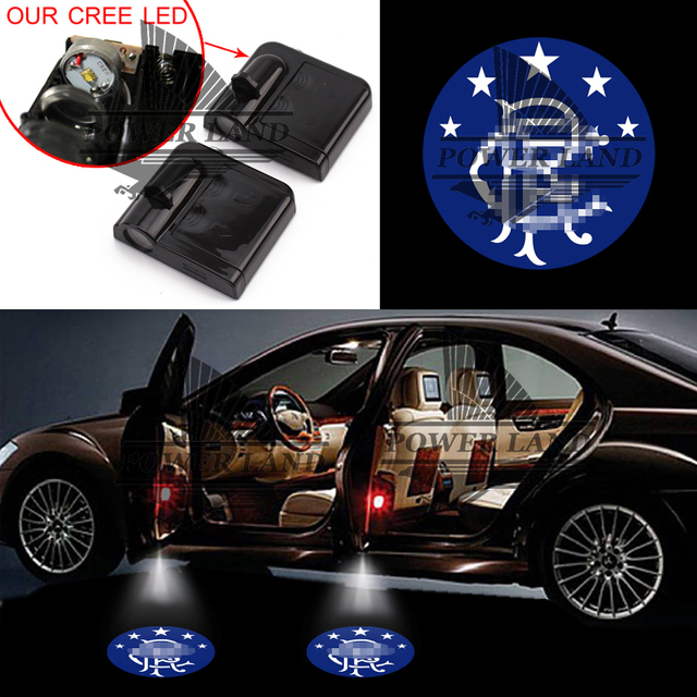1pair car door wireless projector light laser glasgow rangers gobo logo light welcome ghost shadow puddle