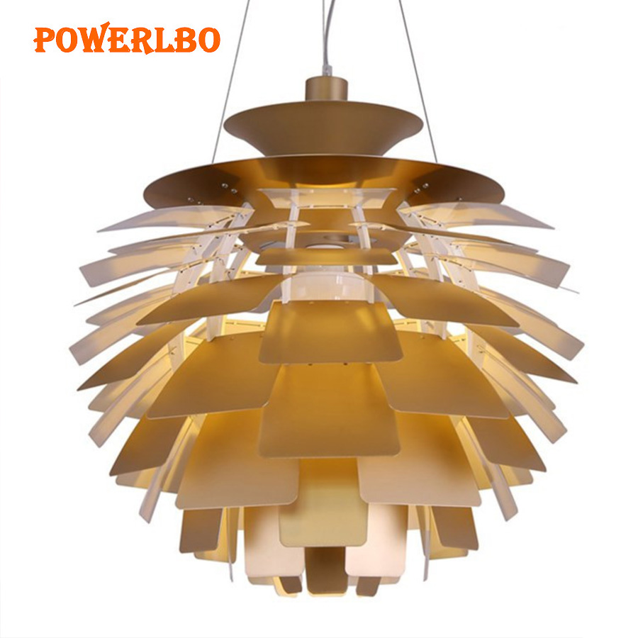 Powerlbo подвесные светильники с артишоками форму лампы современные подвесные светильники для Гостиная светильники Декор Светильник E27
