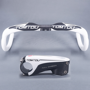 TOMTOU велосипедный руль 400 мм 420 мм 440 мм + стержень 80/90/100/110 мм глянцевый белый руль-TB6M54