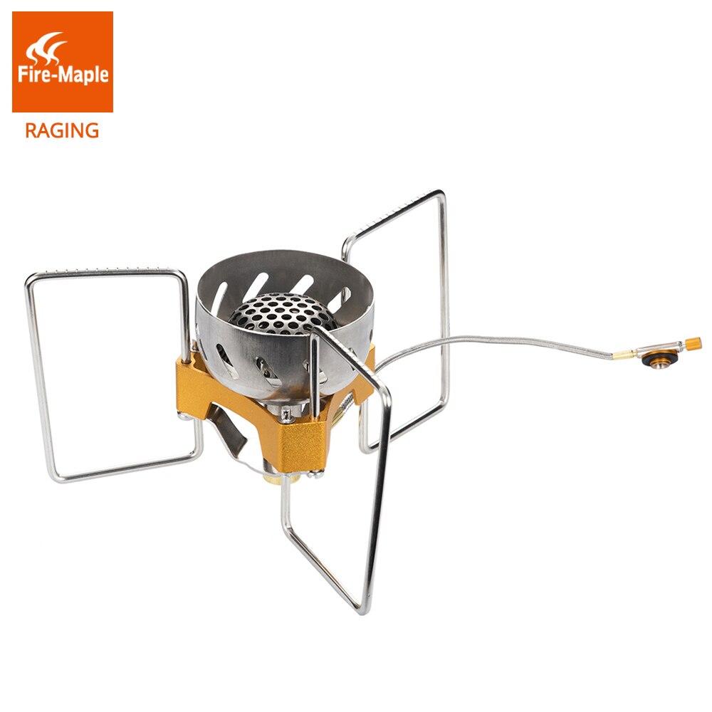 Fuego Arce Acampar Al Aire Libre Plegable Resistente Al Viento Estufa Horno de Split Remoto Ligero Equipo GasBurner FWS-02