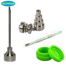 Bong Tool Set 10/14/18mm Domeless Gr2 Titanium Nail Carb Cap Dabber Slicone Jar Hookah Glass Smoking Water Pipes