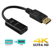 TOFOCO Displayport To HDMI Active Adapter 4K DP To HDTV Cable Video Converter With Audio Out