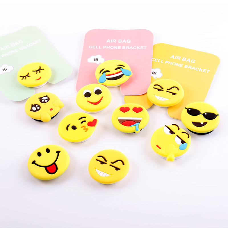 Phone Holder Universal Interesting 3D Cartoon Emoticon Package Stretch Airbag Expanding Grip Smartphone Stand Finger Ring Holder