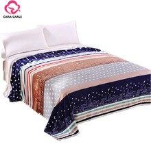 CARA CARLE Weichkorallen Fleece Decke auf dem Bett/Sofa/Flugzeug/Reise Qualität Decke Plaid bettlaken manta para sofa