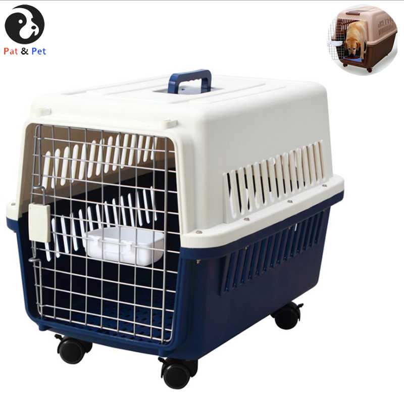 Portable Dog Crate With Handle For Small And Medium Dogs - Bowl Included - Stylish And Durable Portable Pet Carrier