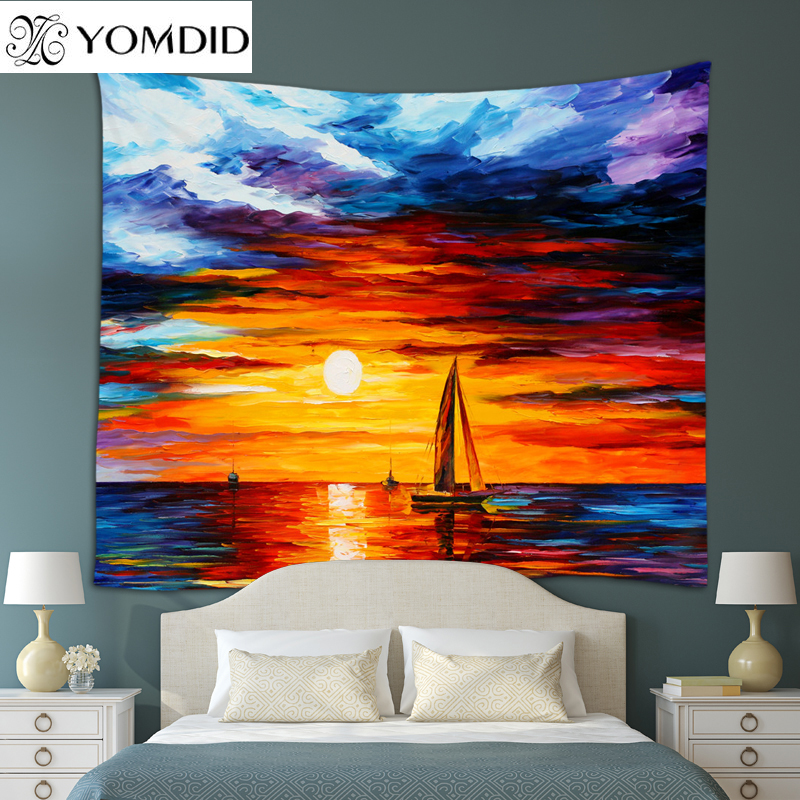Scenery Tapestry Oil Painting Scenic Wall Hanging
