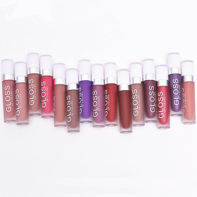 Matte Lip Gloss Long Lasting Lip Stick Waterproof Lipgloss Makeup Liquid Lipstick 15 Colors Brown Nude Chocolate Color Lip Batom