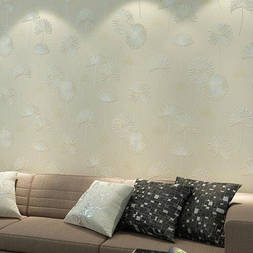 dientes de len flores de papel tapiz floral rollo de papel papel de parede m