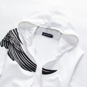 Image 5 - Jesień mężczyźni zestaw bluz z kapturem 2020 marka mężczyzna dorywczo jednolity wzór druku sportowa kurtka z kapturem na zamek błyskawiczny + zestawy dresowe męskie dres