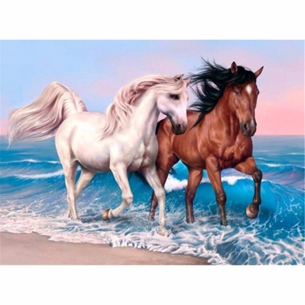 5D,DIY,Horse,Diamond Painting,Full,Diamond Embroidery,Mosaic,Cross Stitch,Needlework,Round Rhinestone,Home Decoration,Art,Gift