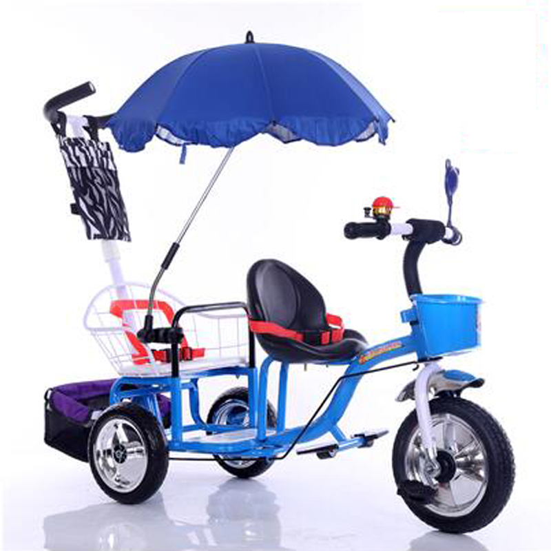 12 inch kids tricycle twins baby bicycle 2 seat fold pedal tandem trike with rubber inflatable wheel and steel frame 3 color vik max adult kids dark blue leather figure skate shoes with aluminium alloy frame and stainless steel ice blade