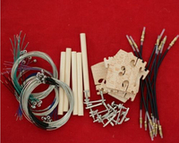 10 set 4/4 full size violin parts (strings+ tuners+Tail Guts+Bridges+sound post)