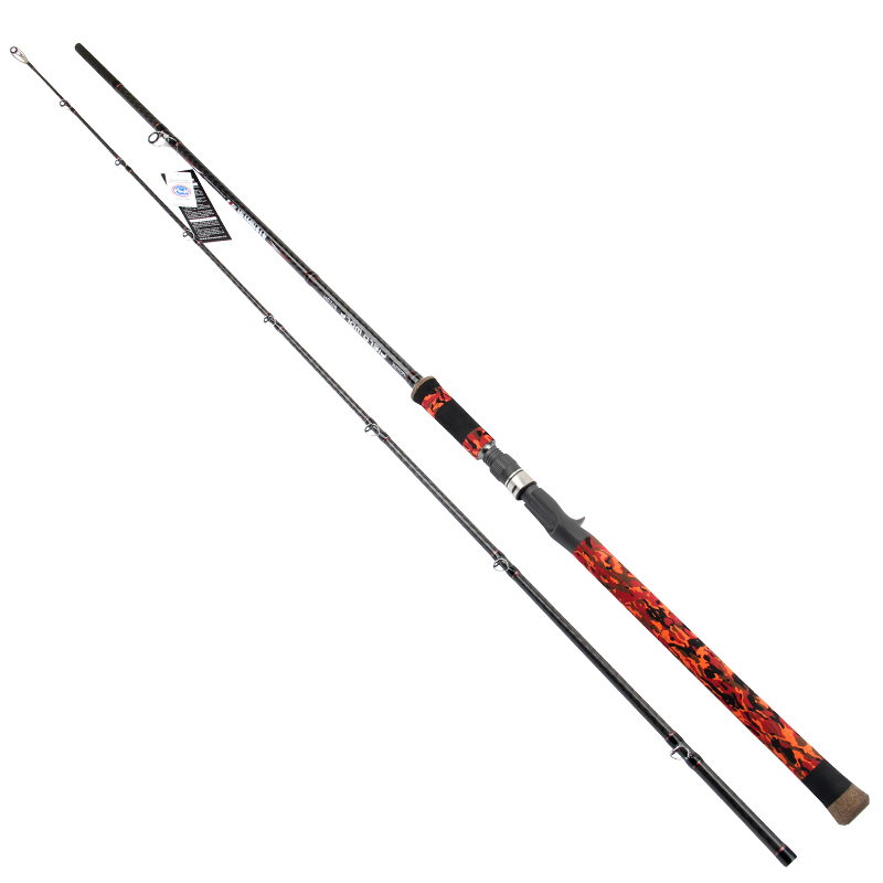ФОТО New Trulinoya Casting Rod Quality Carton Material 2.4M SH for Pike Fishing Camouflage Color Canas de Pesca Canne Casting