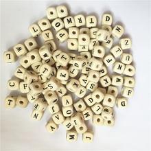 Новые DIY 100 шт Смешанные Буквы алфавит деревянные бусины квадратные кубические буквы деревянные бусины подходят для самостоятельной сборки пустышки бусины из натурального дерева 10 мм