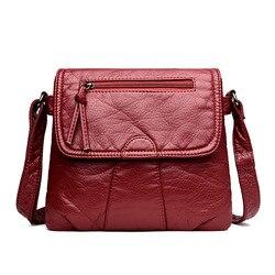 Daunavia preto pequeno saco do mensageiro das mulheres macio lavado couro do plutônio crossbody bolsa feminina bolsas femininas bolsos muje