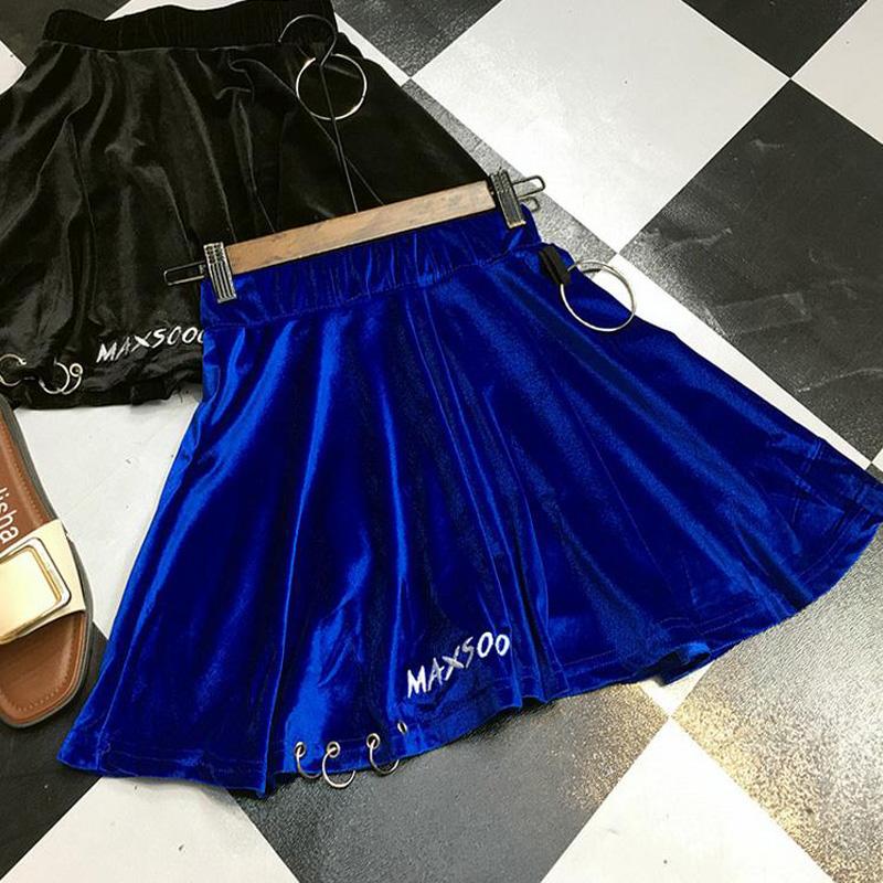 HTB1I4MGRVXXXXc5aXXXq6xXFXXXK - summer high waist velvet trendy woman mini skirt PTC 187