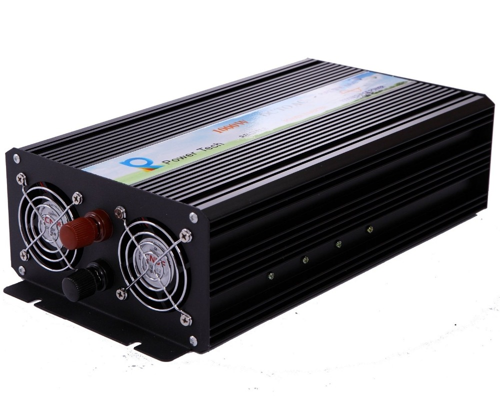 1000W Pure Sine Wave Solar Inverter Portable Power Inverter Voltage Transformer 12V/24V/48V DC to 110V/120V/220V AC Power Supply