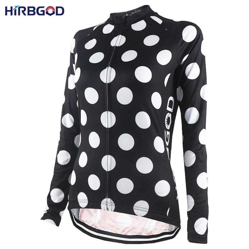 Men's Exotic Apparel Buy Cheap Hirbgod Stylish Best Retro Womens Long Sleeve Cycling Jersey White Spot Autumn Outdoor Sport Bike Clothing Wear Shirt Top-nr218