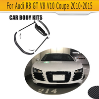 Carbon fiber Auto Body Kits Front Side Rear Lip Spoiler Side Skirts for Audi R8 GT V8 V10 2 Door 2010 2015 Car Tuning Parts