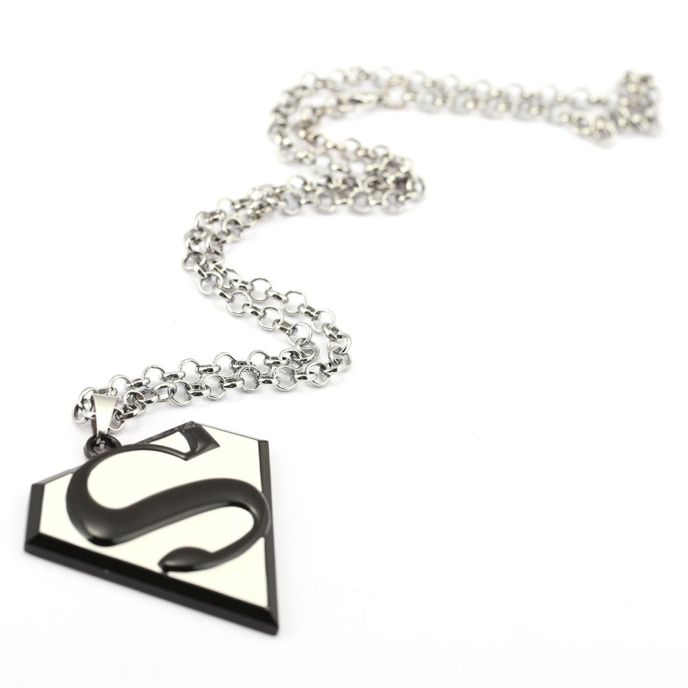MS Jewelry Superman Choker Necklace S Logo Pendant Men Women Gift Movie Accessories ...
