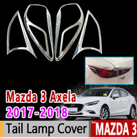 for Mazda 3 Axela 2017 2018 BN Chrome Tail Lamp Cover Luxury High Quality Accessories Car Sticker Sticker