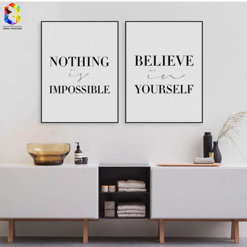 aliexpress  buy motivational typography quotes canvas