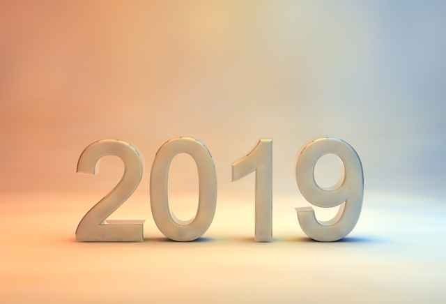 Laeacco gradient color 3d effect 2019 new year photography - New year 2019 color ...