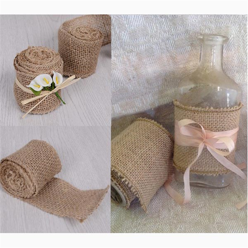 Diy Burlap Wedding Ideas: Casamento 10M/Roll Burlap Wedding For Wedding Bouquet Diy